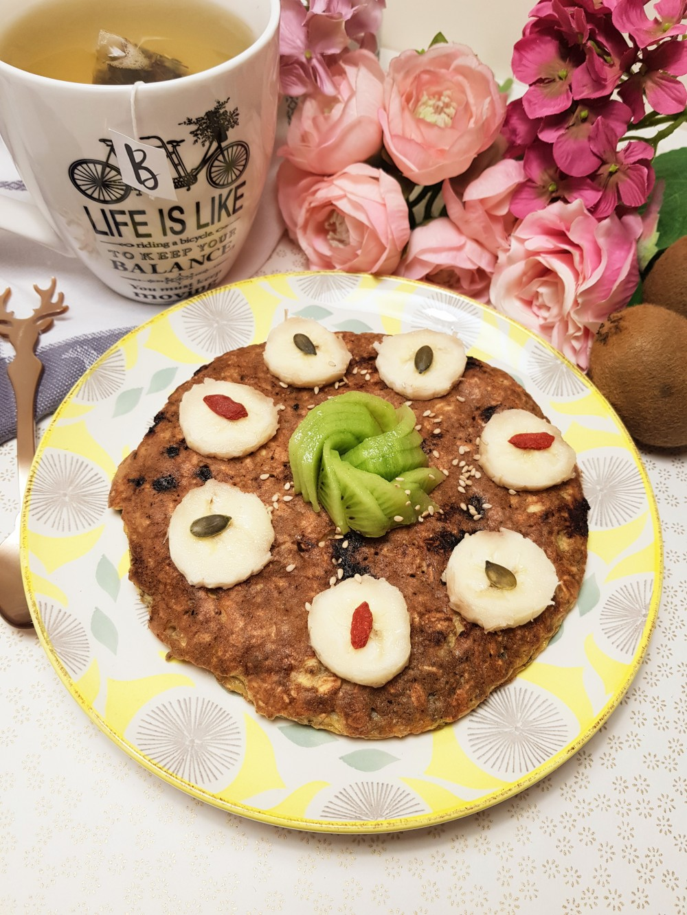 Galette de flocon d'avoine aux pépites de chocolat