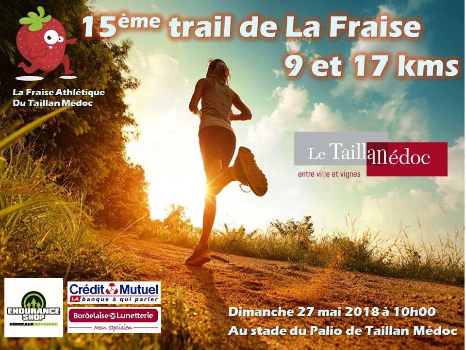 Affiche 15ème Trail de la Fraise le taillan medoc