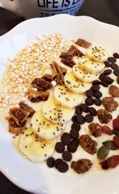 petit déjeuner porridge de soja