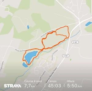 Course de la semaine - run strava