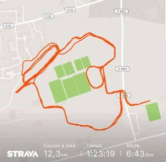 Parcoure de course - run - Strava
