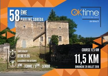 Résultat Pauline SOREDA - Eco-BIOTRAIL de Montaigne et Gurson (Course 11.5 km)