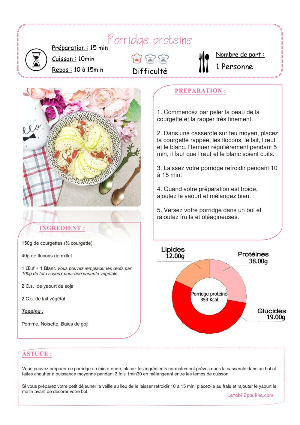 Porridge Proteiné