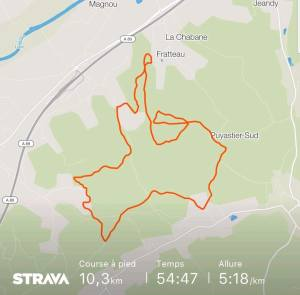 Course Trail des fontaines à Sourzac