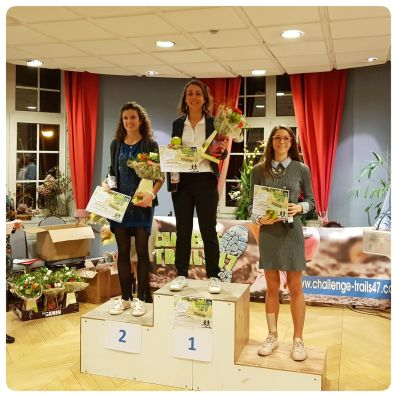 Remise des prix Challenge grand trail 47 2019 podium senior femme