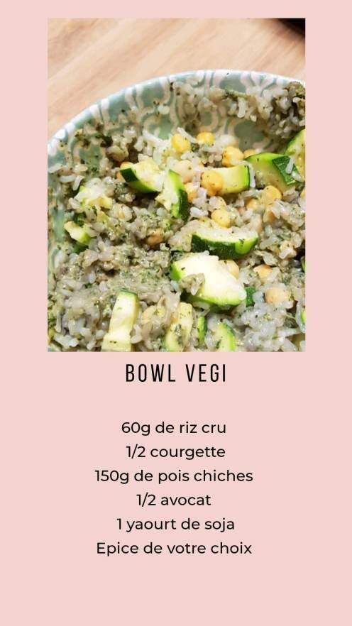 Bowl vegi - riz - pois chiche - sauce avocat - végétal