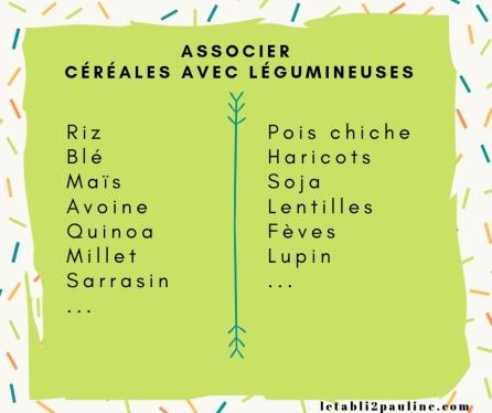 association céréales et légumineuse