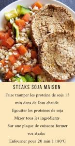 steaks de soja - blé - petit légume