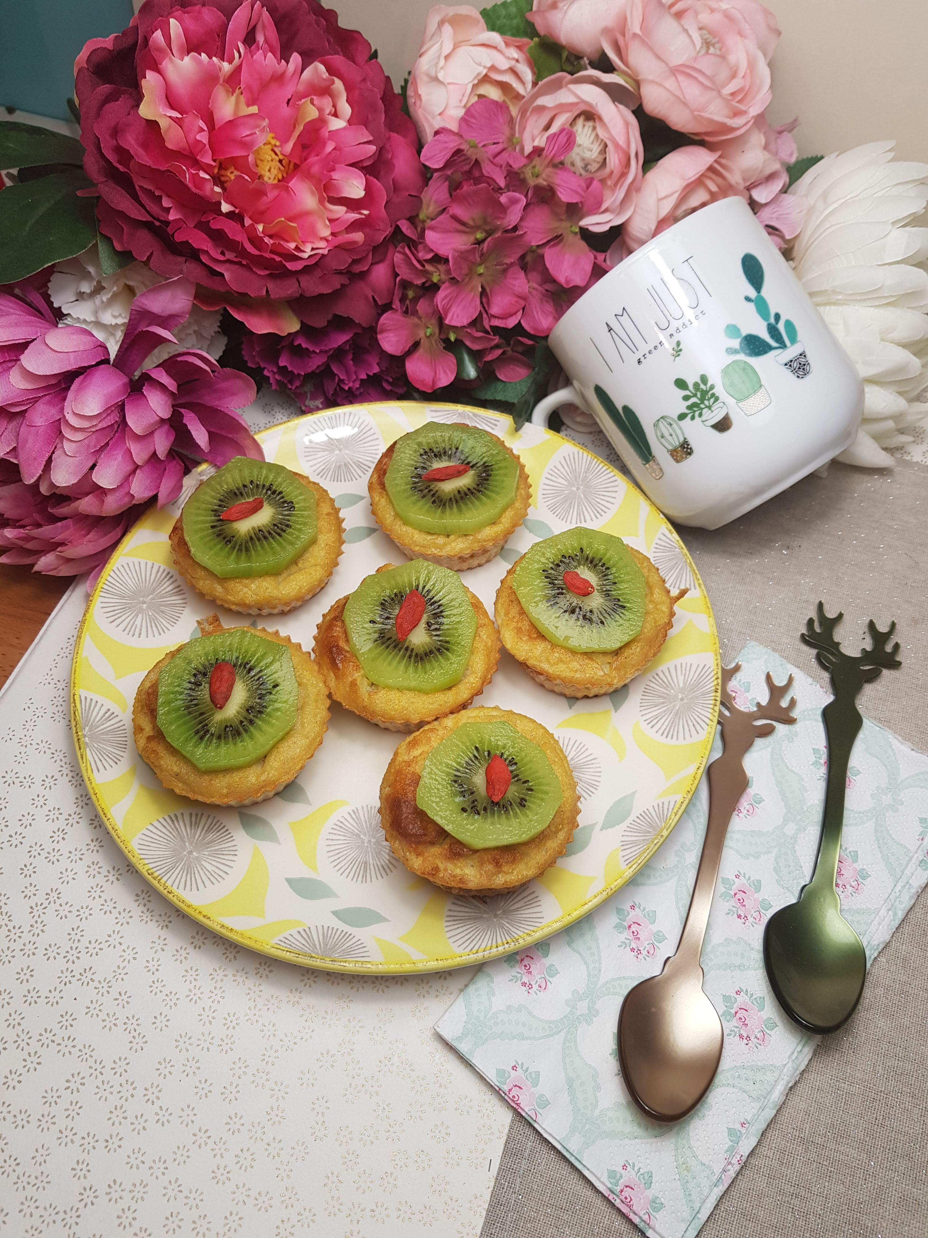 Fiche recette Gâteaux de maïs sucré polenta kiwi